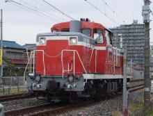 中央線の電車と釜-DE10-1704