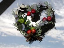 ハート型 クリスマスリース