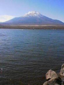 山中の富士