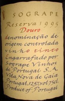 Sogrape Reserva Douro 1995