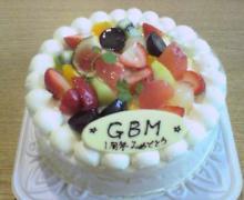 一周年ケーキ