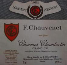Charmes Chambertin 1984 F Chauvenet