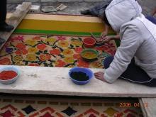 セマナサンタ絨毯作り