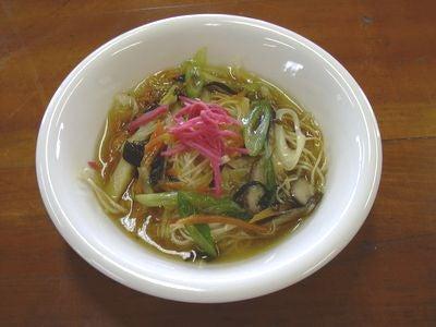 素麺の野菜餡かけ