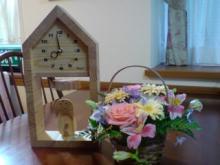 お花と時計