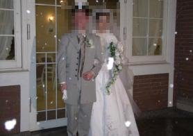 雪の結婚式
