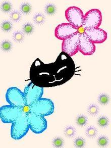 花の妖精猫