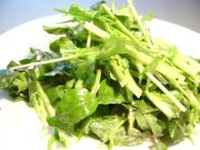 水菜とクレソンのサラダ#202