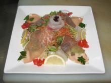 鯛と生ハムのゴマドレッシングサラダ