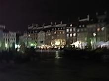 ワルシャワの夜の町並み。
