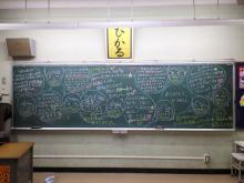 最終日の黒板