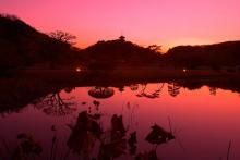 三渓園 夕景