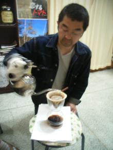 自家焙煎コーヒーを入れてくれた