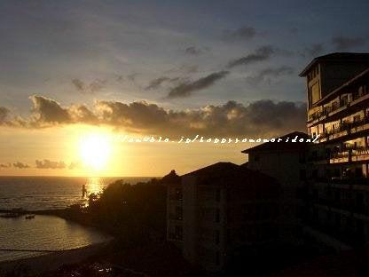 ブセナの夕陽