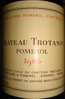 Ch Trotanoy 1986