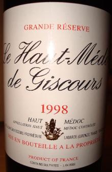 Haut_Medoc de Giscours1998