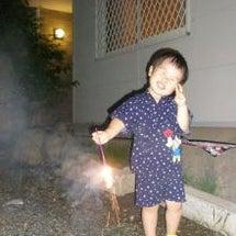 お庭で花火