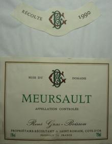 Meursault Rene Gras Boisson 1990