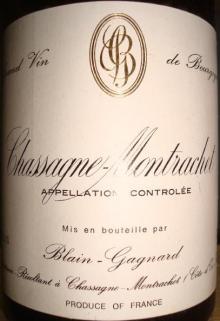 Chassagne Montrachet Blain Gagnard 1988_002