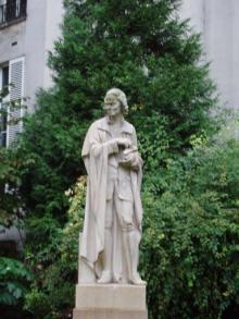 若きヴォルテール像