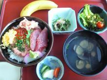 森田水産・三色丼