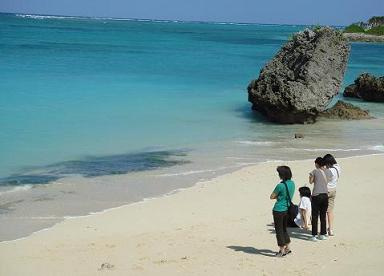 沖縄ーの海ー!