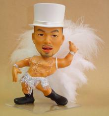 上賀茂からこんにちは。-そっくり人形 製作事例 ダンサー ミーニ