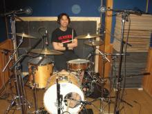 ドラムレコーディング風景