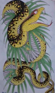 龍が如く3のブログ 刺青:ハブ