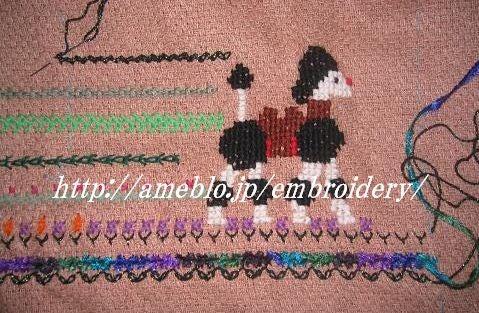刺繍大好き!  欧風刺繍 ・ ニードルワークの世界-ベンガルクロス風