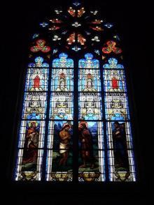 トゥールスの大聖堂ステンドグラス1