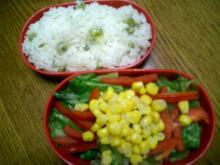 マメご飯&サラダ