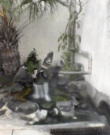 道路脇の温泉