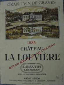 Ch La Louviere 1985