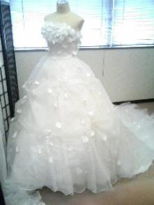 花びらのドレス前