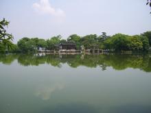 湖に映るよ。