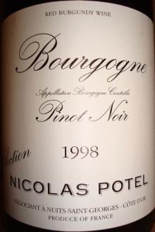 Bourgogne Pinot Noir Nicolas Potel 1998