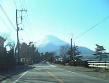 朝日と富士