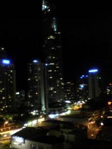 ベランダ夜景