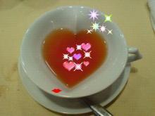 ハートの紅茶