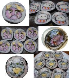 とんとんとん日記☆楽しい生活の知恵袋-恵方巻き? 飾り巻き寿司