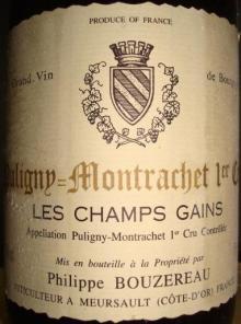 Puligny Montrachet Les Champs Gains Philippe Bou