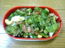 夏の終わりの野菜炒め