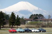 カルマン5台と富士山