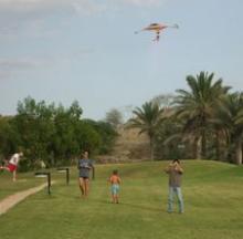 数十年ぶりの凧揚げ