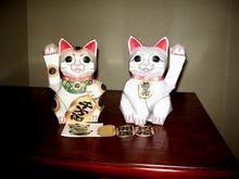 招き猫2体