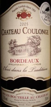 Ch Coulonge 2005