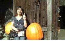 妻籠宿のでかかぼちゃと共に・・2007.8.17