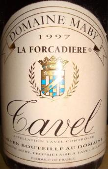 Tavel Domain Maby La Forcadiere 1997