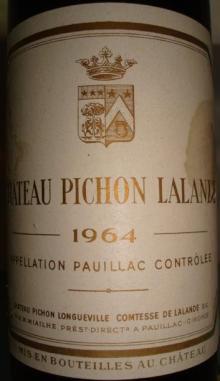 Ch Pichon Lalande 1964